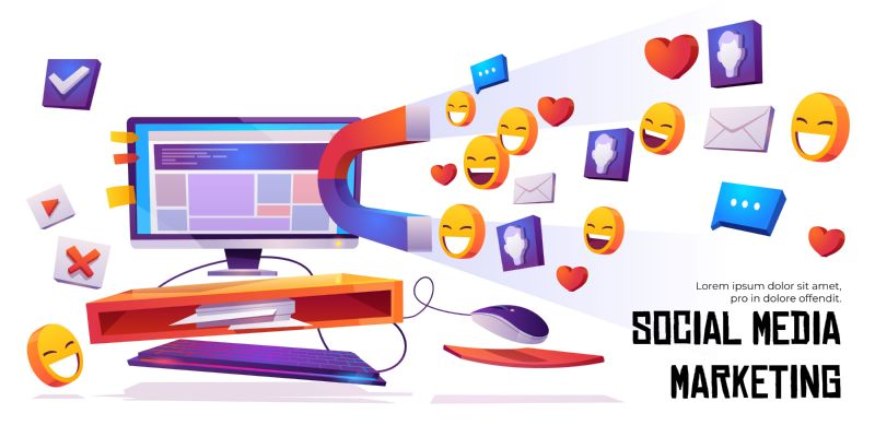 Social media marketing banner. Smm strategy campaign,  #561