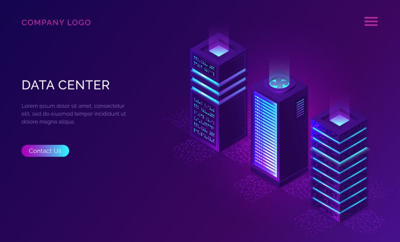 Date center isometric concept vector illustration. Server  #425