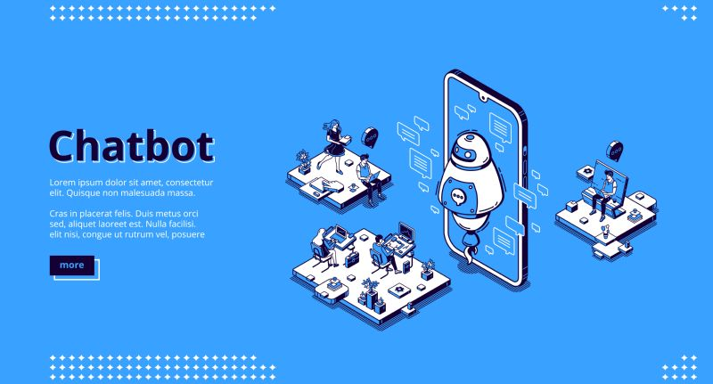 Chatbot banner. AI technology in business for  #555