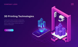 3D printer technology, isometric concept vector illustration.  #803