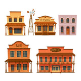 Wild west buildings set store, bank, hotel  #855