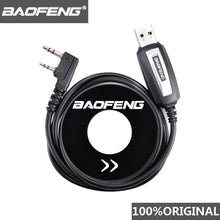 Load image into Gallery viewer, 100% Original Baofeng Walkie Talkie 50km USB Programming Cable For 2 Way Radio UV-5R BF-888s UV5R K Port Driver With CD Software