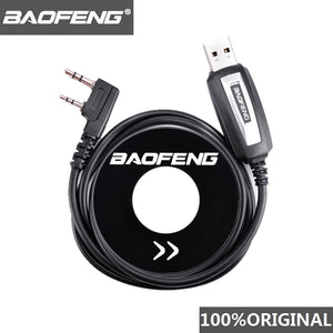 100% Original Baofeng Walkie Talkie 50km USB Programming Cable For 2 Way Radio UV-5R BF-888s UV5R K Port Driver With CD Software