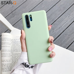 candy color silicone phone case for huawei p30 lite pro p20 lite p10 p smart plus z 2019 2018 matte soft tpu back cover