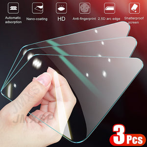 3Pcs Protective Glass on the For Honor 9X 9A 9C 9S Tempered Screen Protector Honor 8X 8A 8C 8S 20S 30S V10 V20 V30 Glass Film