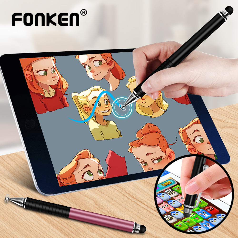 Universal 2 In 1 Stylus for Phone Tablet Touch Pen Drawing Capacitive Screen Caneta Pencil For Smartphone Note Smart Android Pen