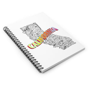 California Collage Spiral Notebook - Ruled Line