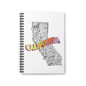 Open image in slideshow, California Collage Spiral Notebook - Ruled Line