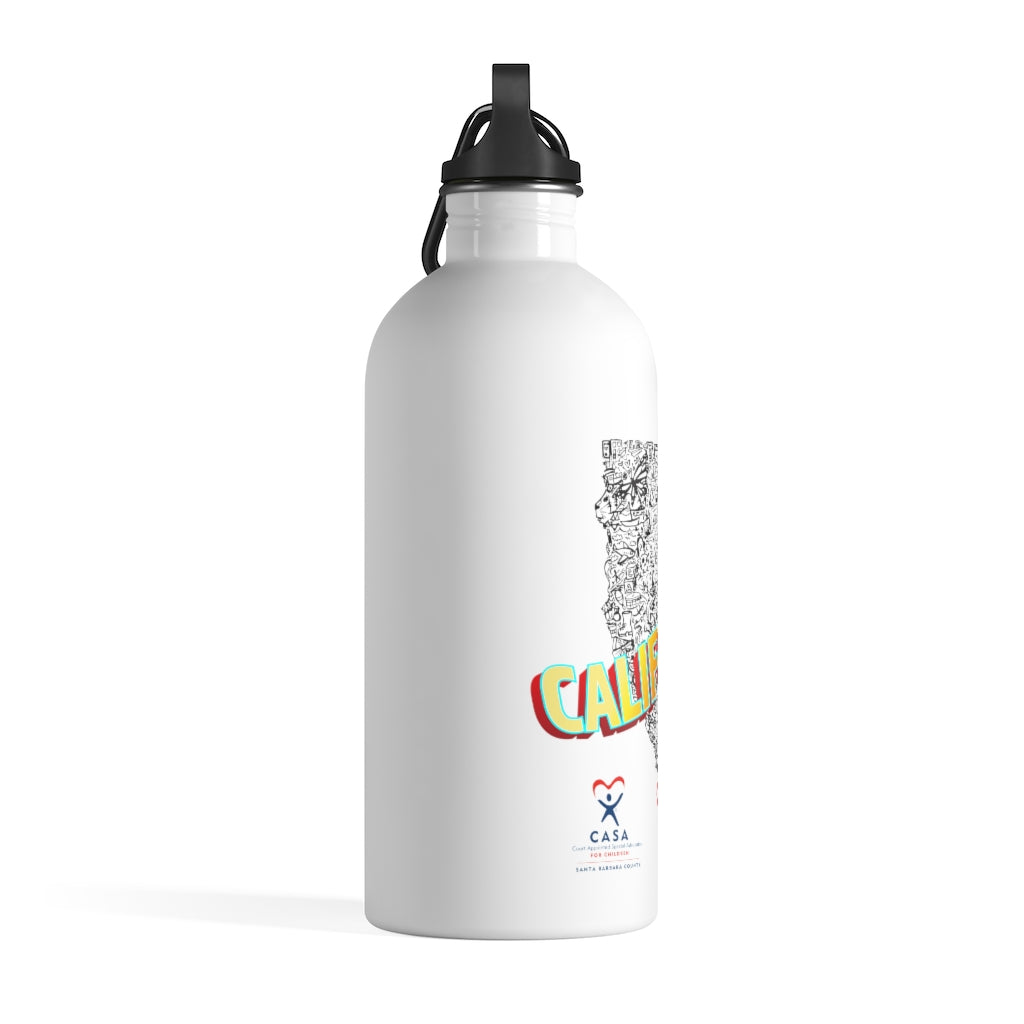CASA California Collage Stainless Steel Water Bottle