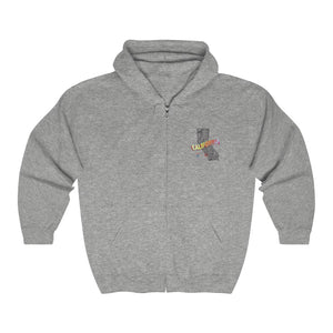 CASA California Collage Unisex Full Zip Hooded Sweatshirt