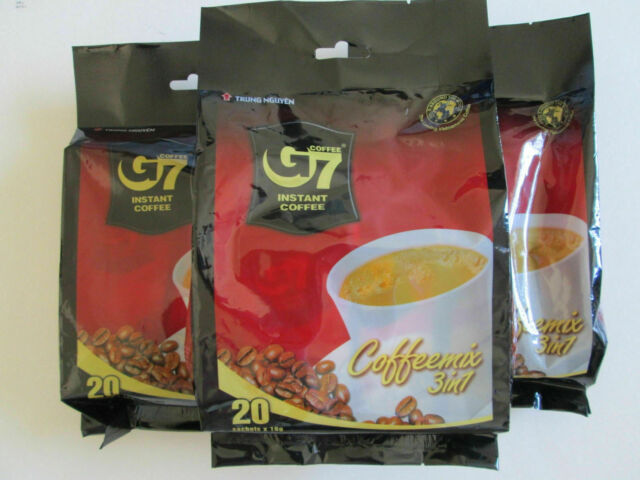 G7 Instant Coffee Mix 3 in 1 by Trung Nguyen 20 Sachets  X 3 BAGS