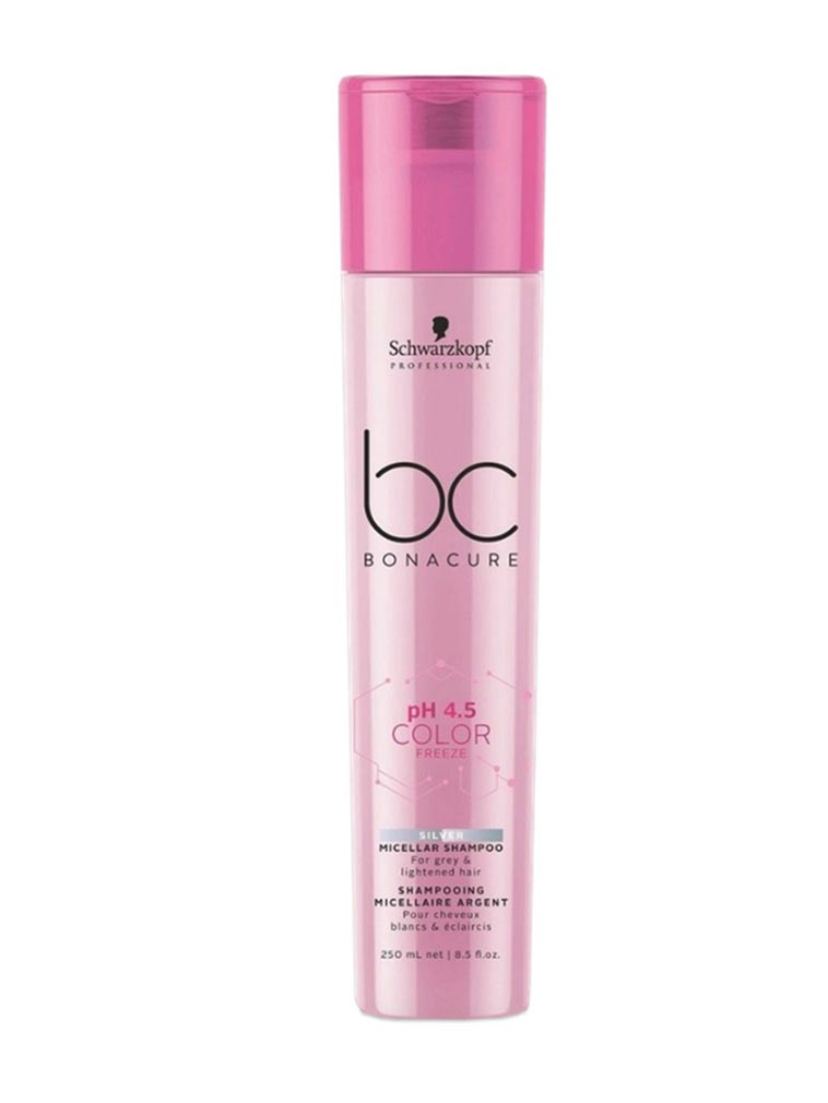 BC BONACURE pH 4.5 Color Freeze Micellar Silver Shampoo, 8.5-Ounce. 250 ML