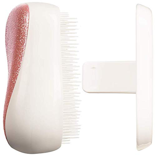 Tangle Teezer Compact Styler On-the-go Detangling Hairbrush - Rose Gold Sparkles