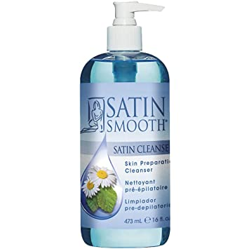 Satin Smooth Satin Cleanser Skin Preparation Cleanser, 16 oz