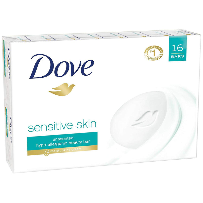 Dove Sensitive bar Soap (16 bar soaps) /4 Oz