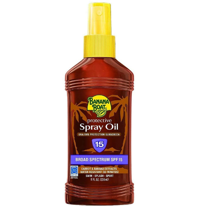 Banana Boat Protective Spray Oil, Sunscreen SPF 15 8 oz