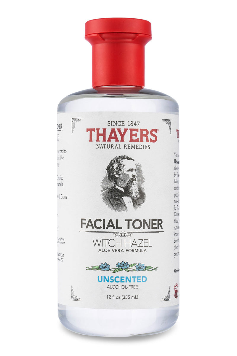 Thayers Witch Hazel with Aloe Vera Toner Alcohol-Free, Unscented 12 Oz
