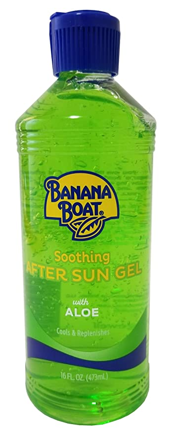 Banana Boat Aloe Aftersun Gel Soothes Dry Sunburned Skin: Size 16 Oz