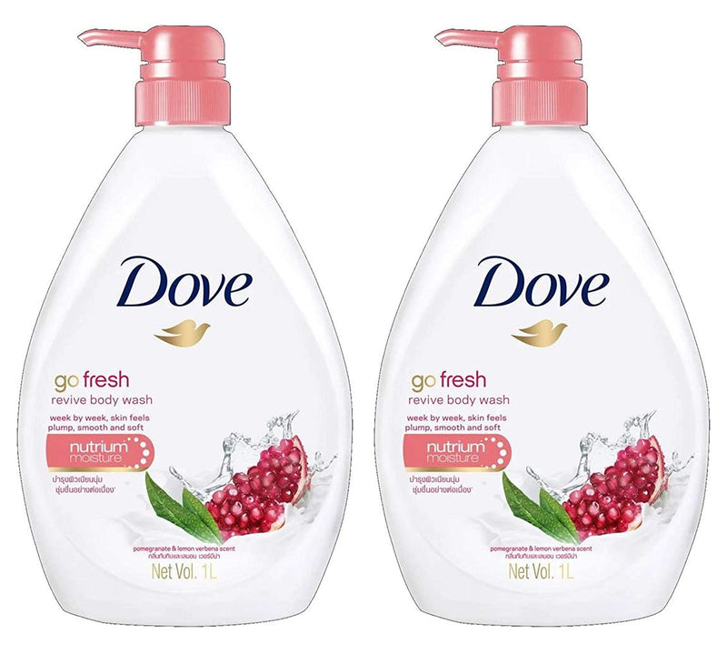 Dove Go Fresh Revive Body Wash  1LT -  Pack of 2