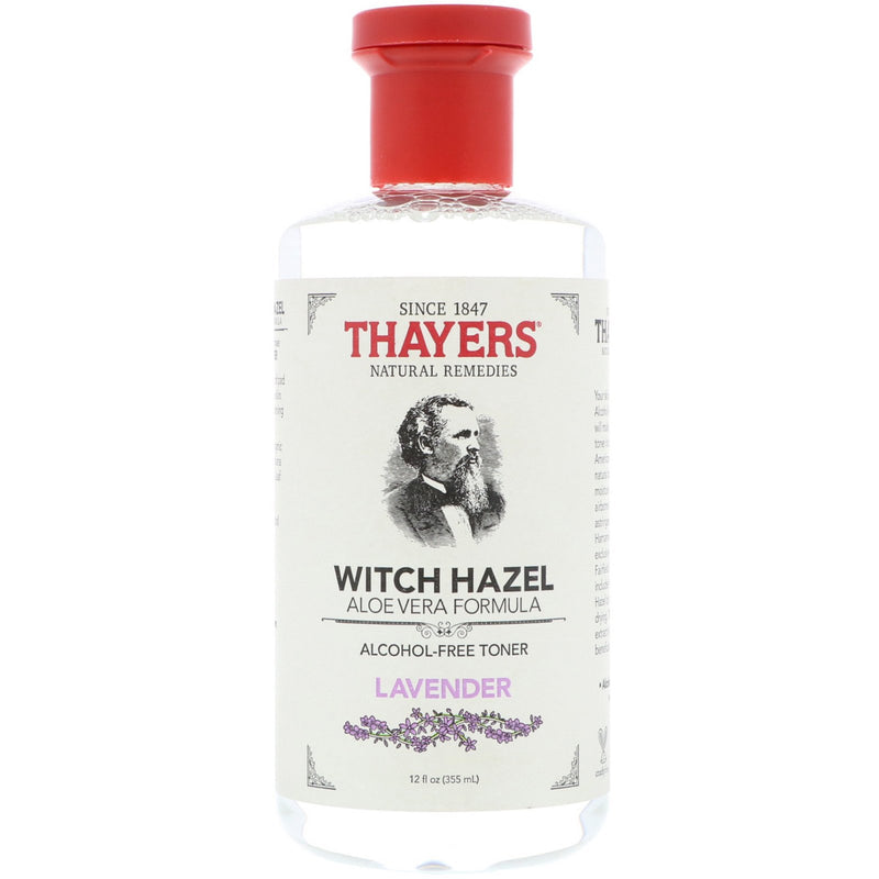 Thayers Lavender Witch Hazel with Aloe Vera Alcohol-free 12 Oz