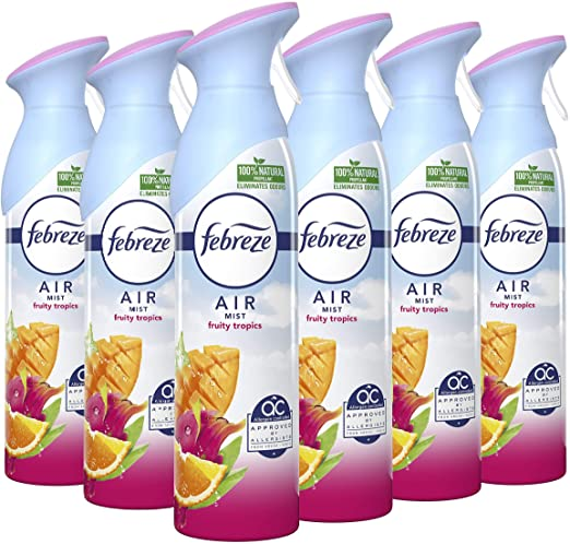 Febreze Air Mist Air Freshener Fruity Tropics  300ml - Pack of 6