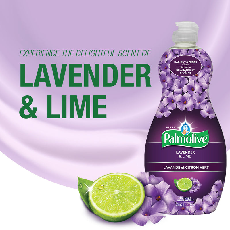Palmolive Ultra Dish Liquid Lavender & Lime 591Ml (Pack of 6)