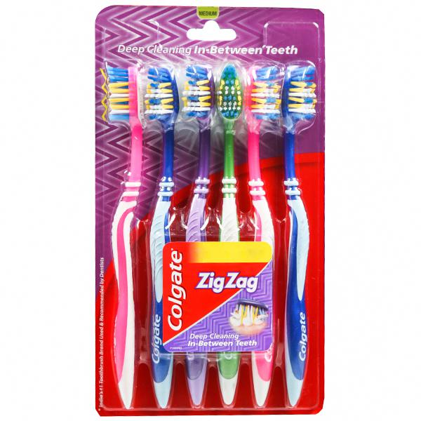 Colgate Zig Zag Tooth Brush  pack 6 (SOFT)