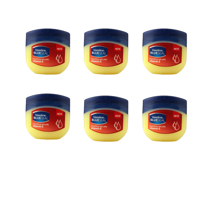 Vaseline Blue Seal Nourishing Skin Vitamin E Jelly 50ml - Pack of 6