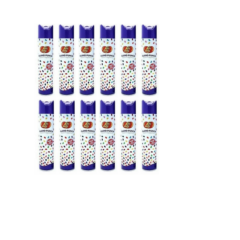 Jelly Belly Island Punch Room Fragrance Neutralizer New Dry Spray 300 ml 12 Pack