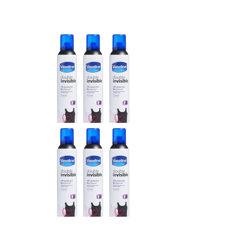 Vaseline Antiperspirant Double Invisible Spray 250ml (6 Pack )