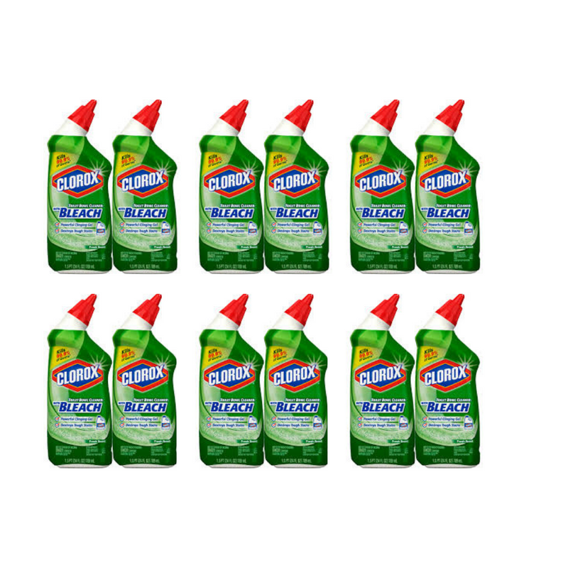 Clorox Toilet Bowl Cleaner With Bleach, Fresh Scent - 24 Ounces (Pack 12)
