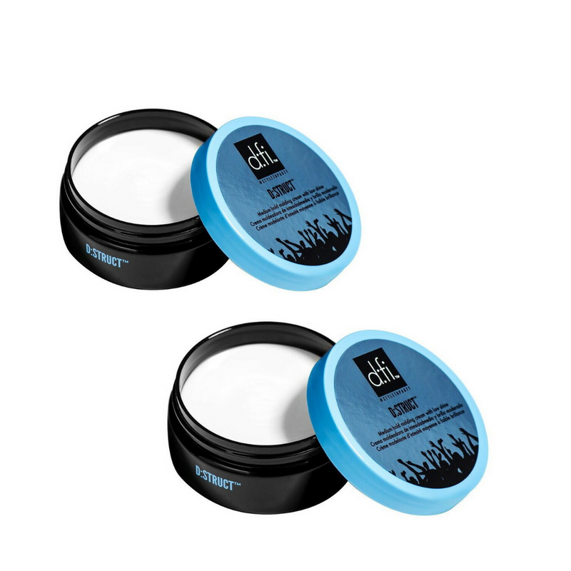 D:fi Hair D:struct Medium Hold Molding Creme  2.65 oz. 75g (PACK 2)