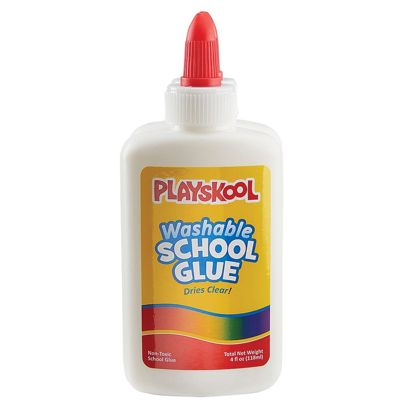 Playskool Washable School Glue, Dries Clear 4oz Pack Of 22