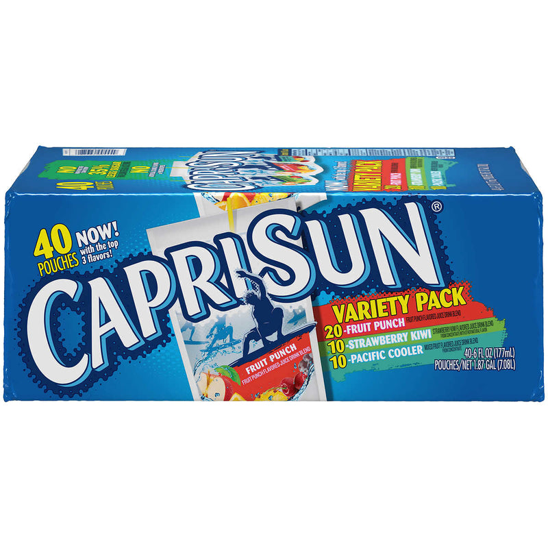 Capri Sun® Juice, 6 fl. oz. Pouches, Variety Pack, 40/Box
