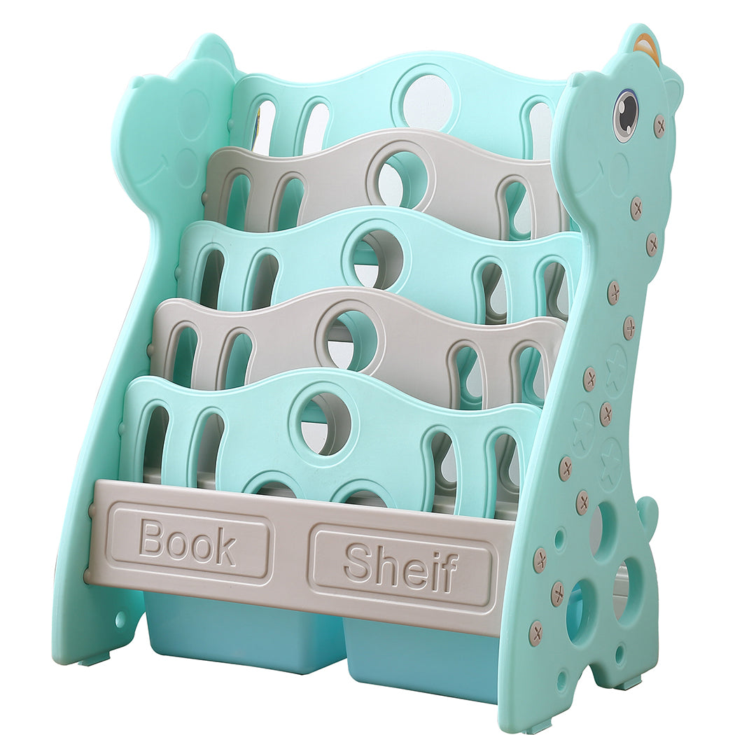 BoPeep Kids Bookshelf Bookcase Magazine Rack Organiser Shelf Children Green