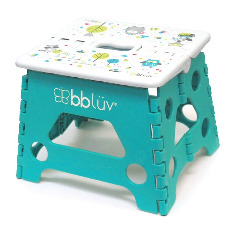 bblüv - Stëp - Foldable Step Stool - Safe, Compact and Easy to Clean (Aqua)
