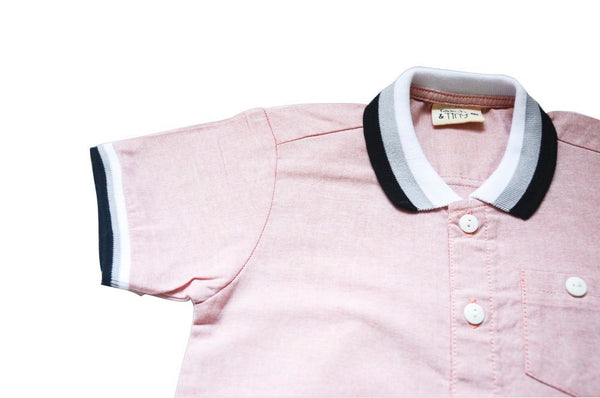 Torch & Tiny boy pink shirt with collar - Tap Tap Market