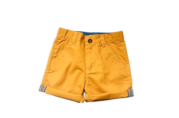 Yellow mustard chino short with adjustable waist and length of pants - Tap Tap Market
