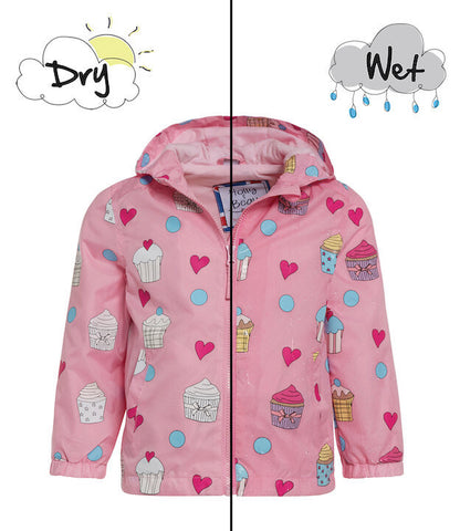 Holly&Beau Magic Colour technology® Cupcake raincoat pink - Tap Tap Market