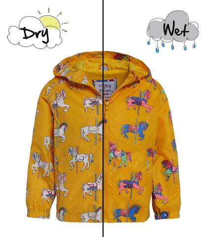 Holly&Beau Magic Colour technology® Carousel raincoat yellow - Tap Tap Market