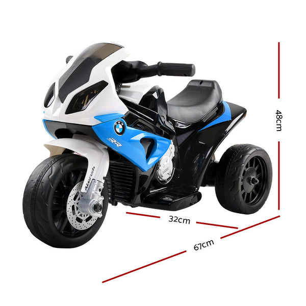 Kids Ride On Motorbike BMW Licensed S1000RR Motorcycle Car Blue - Tap Tap Market