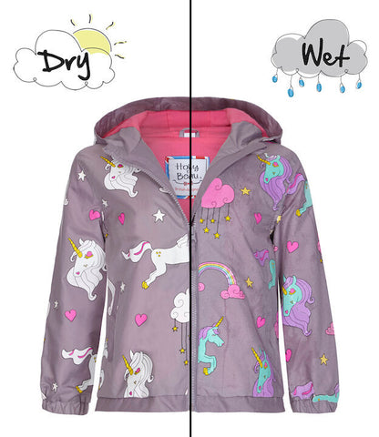 Holly&Beau Magic Colour technology® Unicorn raincoat - Tap Tap Market