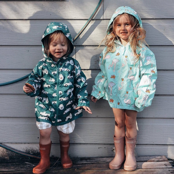 Holly&Beau Magic Colour technology® Flamingo raincoat - Tap Tap Market
