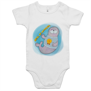 Seal of approval number one funny baby onesie romper size 0-24 months old