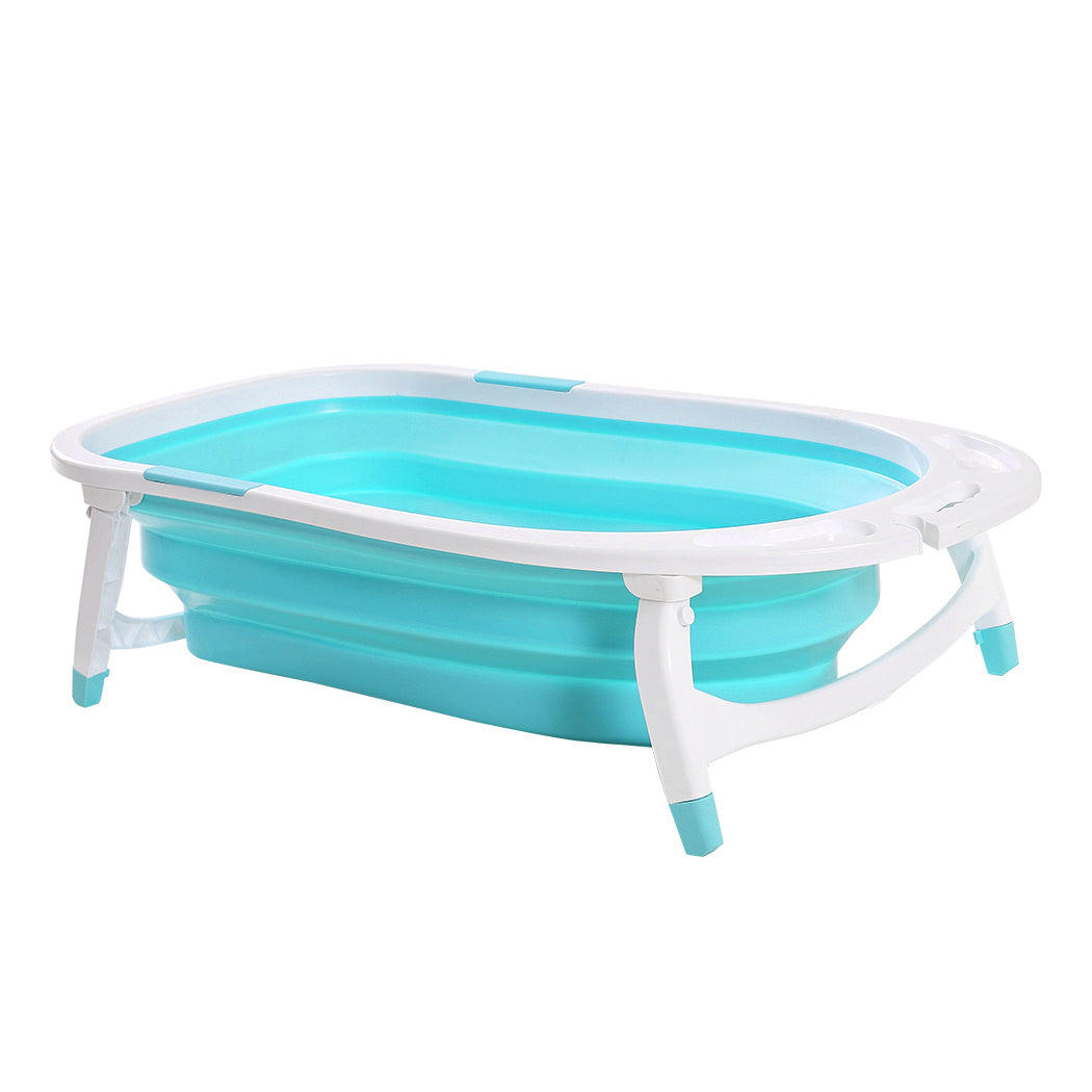 Baby Bath Tub Infant Toddlers Foldable Bathtub Folding Safety Bathing Shower GN