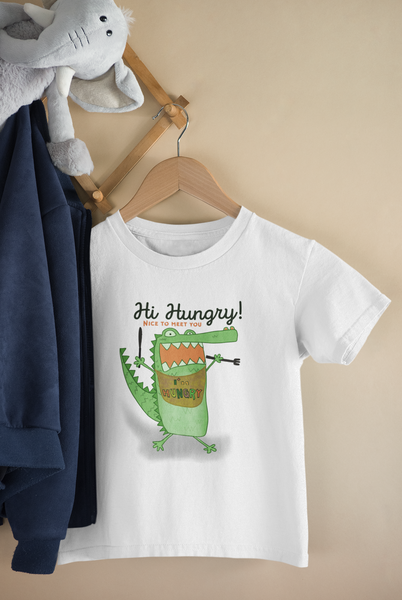 Hi I am hungry Tshirt kids size 2 - 14 years old unisex boys and girls