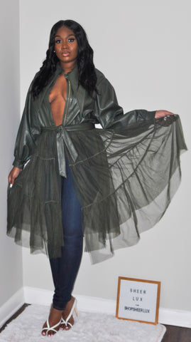 Don't Tulle Around - Leather Tulle Jacket