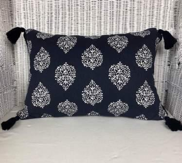 Hamptons Coastal Cushion Cover Navy and White Pattern Mix and Match 3 Sizes