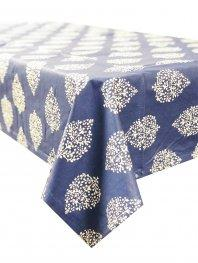 Table Cloth Sea Blue and White 150 x 250 cm 100% Cotton Acrylic Coat Hamptons Style