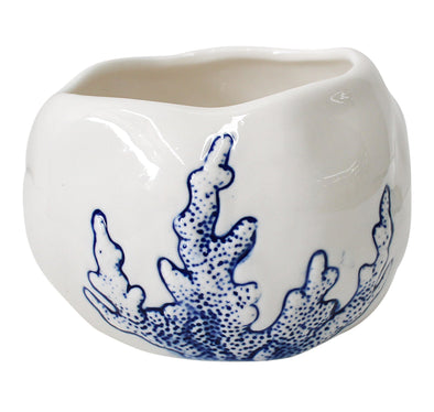White Ceramic Coral Planter Pot